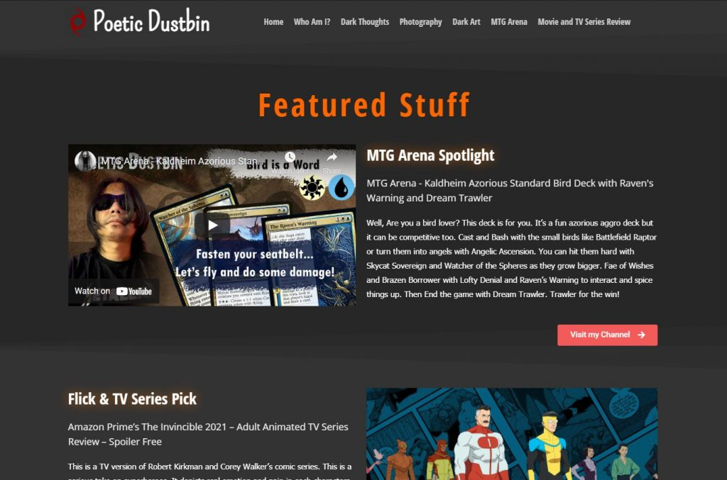 Poetic Dustbin Web Blog New Design
